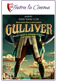 Poster Gulliver (spectacol proiectat)